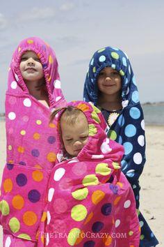 DIY- Hooded Towel Backpacks- from backpack to hoodie! A fun gift idea too!