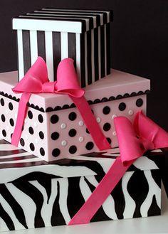 Trio of presents Cake