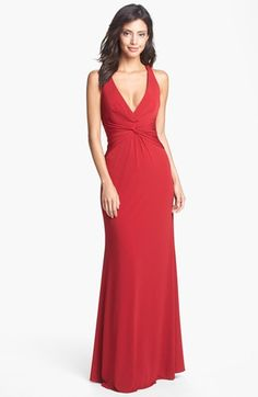 Laundry by Shelli Segal Knotted Jersey Surplice Gown available at #Nordstrom - willa $275.00