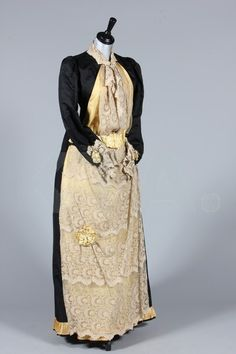 Dress 1890's, Made of silk