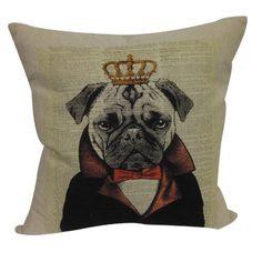 Pug Page Pillow.