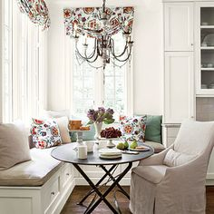 Cheery Banquette - Southern Living