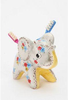 elephant toothbrush holder.