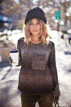 SWEATER WEATHER #sweater #cozy #streetstyle #winter sweaters, fashion dresses, style perfect, sweater weather, hat hair, street styles, winter outfits, fashion pictures, winter hats