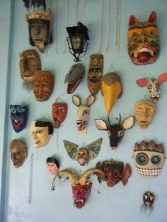 wall of masks