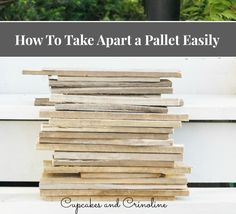 Discover how to pull apart a pallet easily.