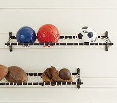 All Star Net Shelf | Pottery Barn Kids   Pretty sure we need this for the boys' room!