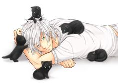 Anime-guy-cats.jpg Photo:  This Photo was uploaded by Redwind69. Find other Anime-guy-cats.jpg pictures and photos or upload your own with Photobucket fr...