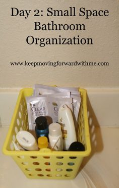 Small space bathroom organization and cleaning tips  #cleanin30