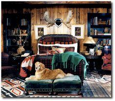 Ralph Lauren, Keywords: Primitive Decorating, Primitive Furniture Ideas, Early American Decorating,Americana Antiques, Lodge Decorating, Cabin Decorating, Tartan, Ralph Lauren Home, Rustic Furniture, Distressed Furniture, Painted Furniture