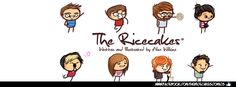 Facebook Banner for  The Ricecakes web comic series.
