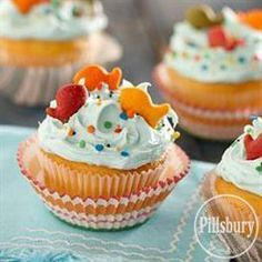 By-the-Sea #Cupcakes from Pillsbury® Baking