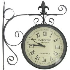 Black Dual Face Paddington Station Clock | Shop Hobby Lobby