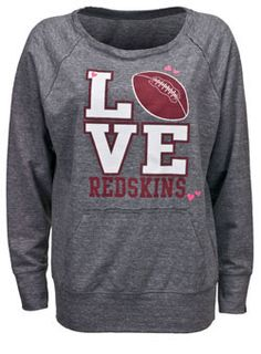LADIES BOAT NECK REDSKINS SWEATSHIRT
