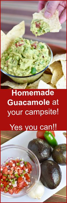 This long time family favorite guacamole is full of garlic, onion, cilantro, jalape??o, and of course ripe avocados! This recipe is modified to make it perfect for camping!!