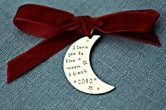 Personalized Ornament Hand Stamped Ornament by 3LittlePixiesShoppe, $23.00
