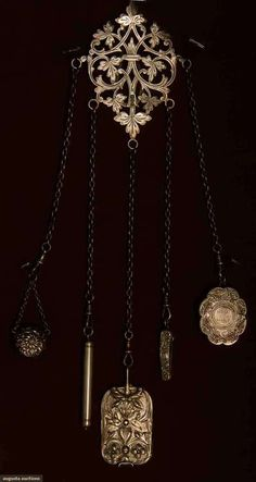 STERLING SILVER CHATELAINE - EUROPE c. LATE 19TH CENTURY
