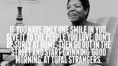 Maya Angelou's prese