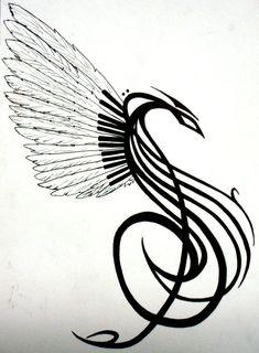 Song Phoenix tattoo design by ~bottomofastairwell