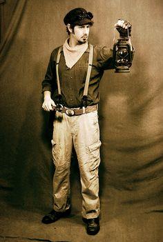 Steam punk mechanic costume