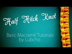 M Dear Macramé Lovers, with this tutorial you will learn how to make another basic macrame knot called half hitch, which will help you to create simple, but be...