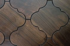 Moroccan wood tiles