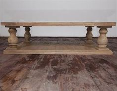 Salvage teak distressed French country coffee table, $895