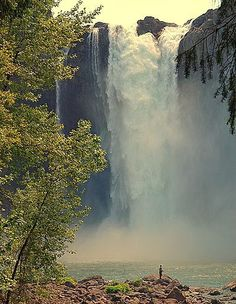 Snoqualmie Falls, WA. Would love to get a room at the hotel on site