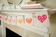 DIY heart banner from Living the Swell Life. Charming.