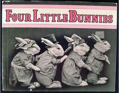 Four Little Bunnies. 1930's children book. Harry Whitter Frees.