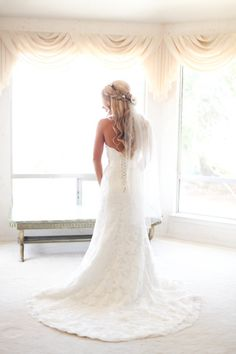 Dreamy wedding dress: http://www.stylemepretty.com/little-black-book-blog/2014/09/30/romantic-paso-robles-winery-wedding/ | Photography: B. Schwartz - http://bschwartzphotography.com/