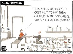 """#Trends """"Showrooming"""": when consumers check out products in a store, but then go online to buy."""