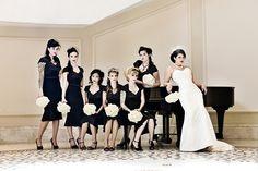 black + white wedding