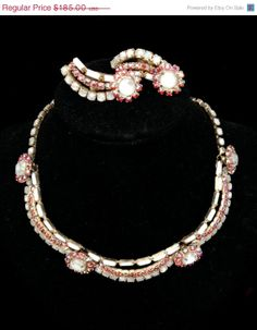 Beautiful Hobe' Necklace and Earrings Demi by Vintageimagine, $148.00