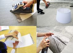Check out these easy steps to create a DIY IKEA fabric covered lampshadel?