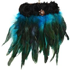 Inspired by Claire Jane Peacock Feather Purse