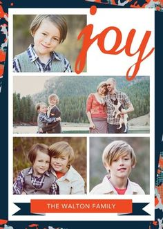 Send joy to your family and friends with this joyous Rebecca Minkoff for Tiny Prints holiday photo card.
