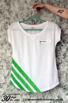 DIY chevron tee-shirt