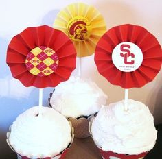 USC Cupcake toppers usc-tailgate-prep