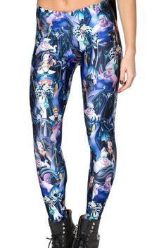 Disney Villains Leggings by Black Milk Clothing $85AUD