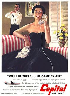 Vintage stewardess ads