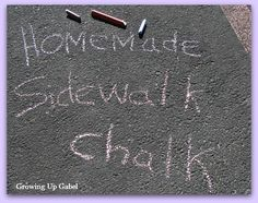 How to make homemade sidewalk chalk.  This is super easy!