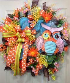 Spring / Summer Mesh Wreath on Etsy, $105.00