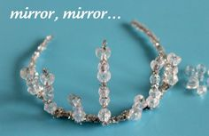 tiara - pipe cleaners and beads mirror mirror, easy crowns crafts, pony beads, princess crowns, crown crafts for kids, kid crafts, pipe cleaner, diy crowns and tiaras, snow white