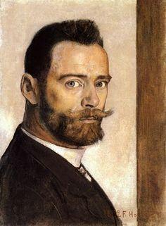 Ferdinand Hodler (1853-1918): Self-portrait, 1892.