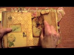 """SCRAPPY HAPPY HOUR - MY FAIRY TREASURES DT PROJECT """"Memoirs vintage journal"""" - YouTube"""