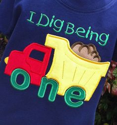Appliqued Boys 1st Birthday Dump Truck Tee on Etsy, $18.95