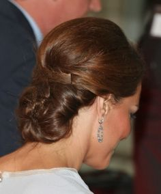 Kate Middletons intricate hairstyle
