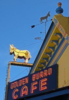 Golden Burro Cafe & Lounge Sign - Leadville, CO