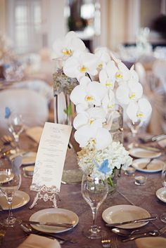 orchid centerpiece #wedding #centerpiece #decor